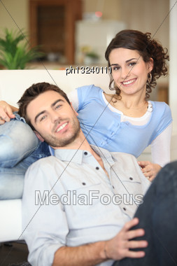 Cheerful Young Couple Stock Photo