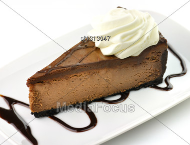Cheesecake Slice Stock Photo