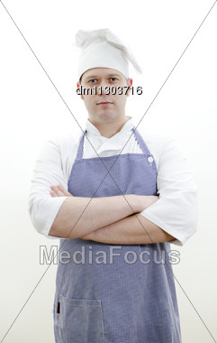 Chef Cook With Arms Crossed Stock Photo