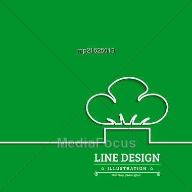 Chef Hat Vector Illustration On Green Background Stock Photo