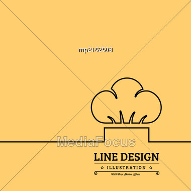 Chef Hat Vector Illustration On Yellow Background Stock Photo