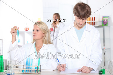 Chemistry Lesson Stock Photo