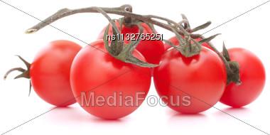 Cherry Tomato Isolated On White Background Cutout Stock Photo