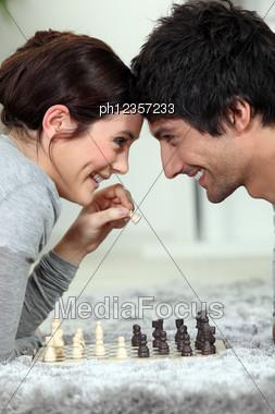 Chess Dual Stock Photo