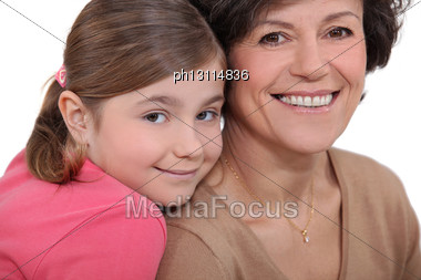 Child And Grandmother Stock Photo