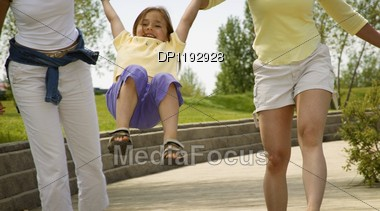 Child Having Fun Stock Photo