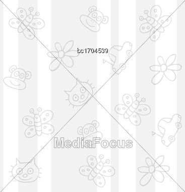 Childish White Background, Vector Format Stock Photo