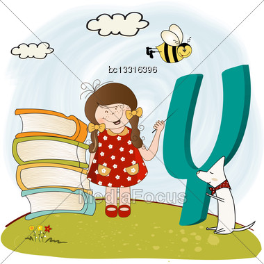 Children Alphabet Letters 'y Stock Photo