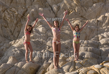 Royalty-Free Stock Photo: Children In Bathing Suits, Los Cabos, Mexico