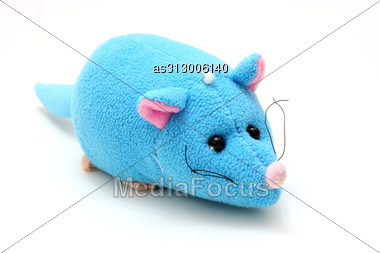 Children's Bright Beautiful Soft Toy For The Child Stock Photo