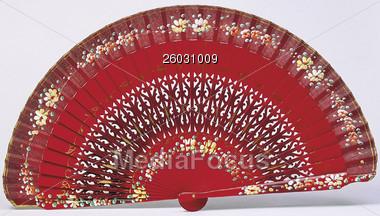 Chinese Fan Stock Photo