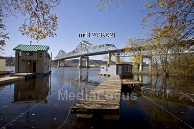 Chippewa Valley Miinnesota Wisconsin Mississippi River Winona Stock Photo