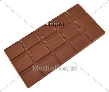 Chocolate Bars On White Background Stock Photo