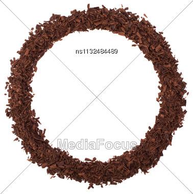 Chocolate Frame Isolated On White Background Stock Photo