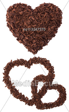 Chocolate Hearts Isolated On White Stock Photo