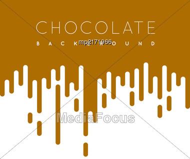 Chocolate Irregular Rounded Lines Background. Vector Illustraion Stock Photo
