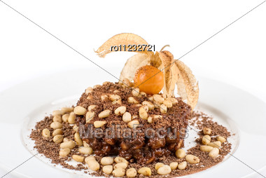 Chocolate Risotto Dessert Isolated Stock Photo