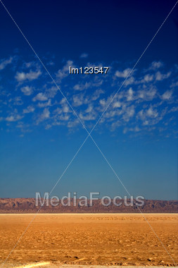 Chott El Jarid In The Sahara Of Desert Stock Photo