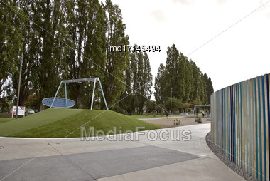 Christchurch New Zealand Downtown Childrens Playground Park Stock Photo