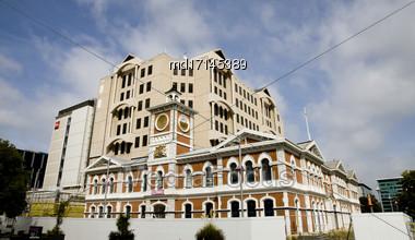 Christchurch New Zealand Earthquake Damage Revitalization Project Stock Photo