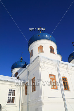 Christian Church On Territory Of The Orthodox Priory Stock Photo