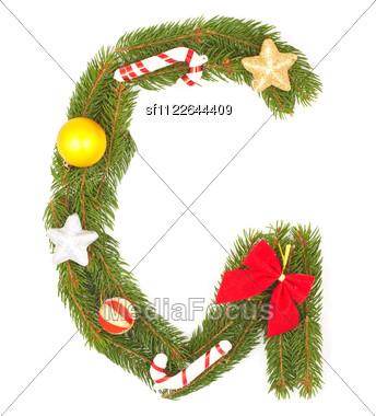 Christmas Alphabet Stock Photo