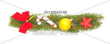 Christmas Alphabet. Part Of Full Set Stock Photo