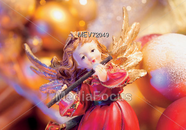 Christmas Angel Ornament Stock Photo