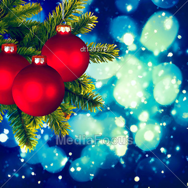 Christmas Backgrounds. Art Oil Painting Stylization For Your Design Stock Photo