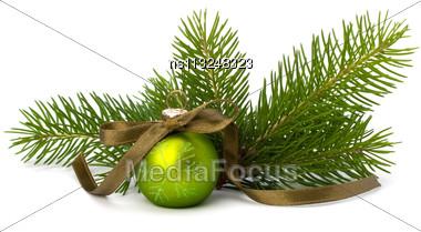 Christmas Ball Decoration Isolated On White Background Stock Photo