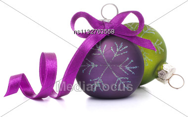 Christmas Ball Isolated On White Background Cutout Stock Photo