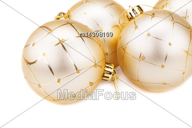 Christmas Balls Close Up Picture Stock Photo