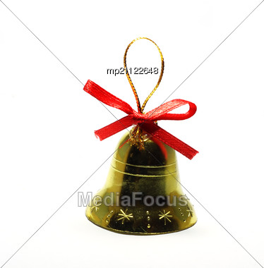 Christmas Bell Toy Stock Photo