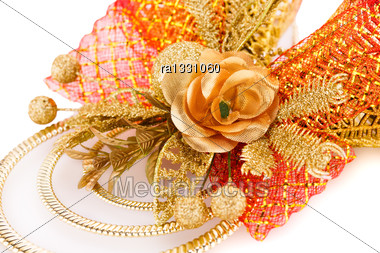Christmas Bells Decoration Closeup Image Stock Photo