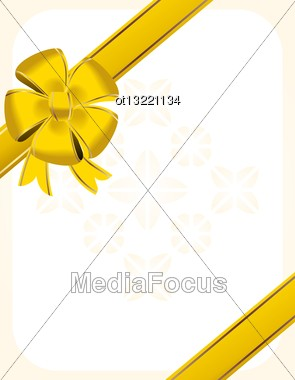 Christmas Bow Decoration - Vector Stock Photo