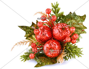 Christmas Decoration Isolated On White Background Stock Photo