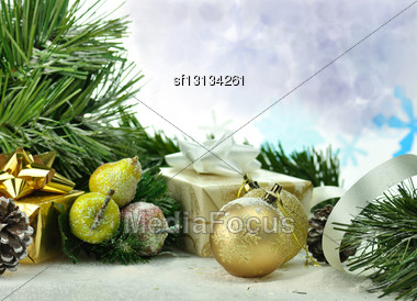 Christmas Decorations , Close Up Stock Photo