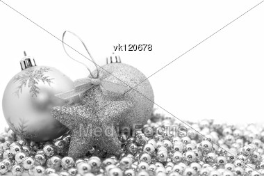 Christmas decorations in black and white Stock Photo
