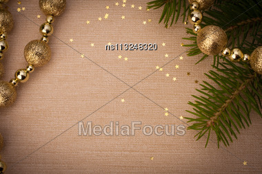 Christmas Festive Background With Copy Space Stock Photo