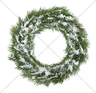 Christmas Green Framework Stock Photo