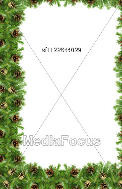 Christmas Green Framework Stock Photo