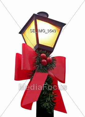 Christmas Lamp Stock Photo