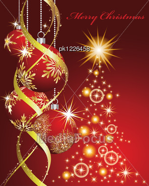 christmas and new year background vector illustration eps 10 with transparency stock photo