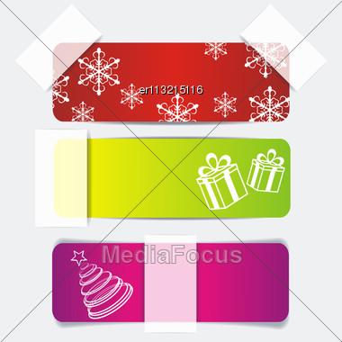 Christmas Stickers Stock Photo