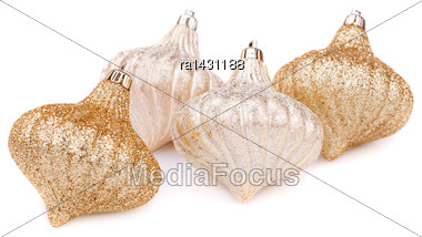 Christmas Toys Isolated On White Background Stock Photo