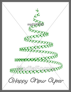 Christmas Tree From Light Stars. Vector Illustration Stock Photo