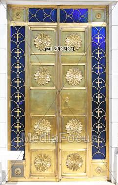 Church Golden Door In Cyprus. Stock Photo