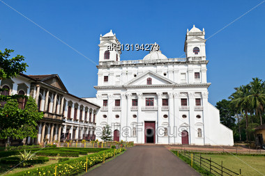 Church Of Saint Cajetan In Old Goa, India Stock Photo