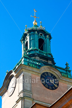 Church Of St. Nicholas In The Old Town Of Stockholm Stock Photo