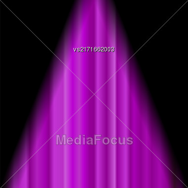 Cinema Closed Pink Curtain. Pink Textile Pattern. Cinema Stage Stock Photo